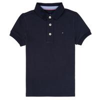 Textil Chlapecké Polo s krátkými rukávy Tommy Hilfiger  Tmavě modrá