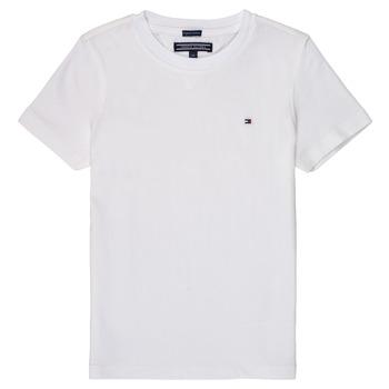 Textil Chlapecké Trička s krátkým rukávem Tommy Hilfiger  Bílá