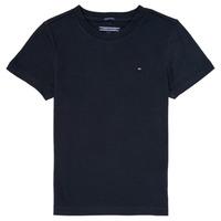 Textil Chlapecké Trička s krátkým rukávem Tommy Hilfiger KB0KB04140 Tmavě modrá