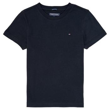 Textil Chlapecké Trička s krátkým rukávem Tommy Hilfiger  Tmavě modrá