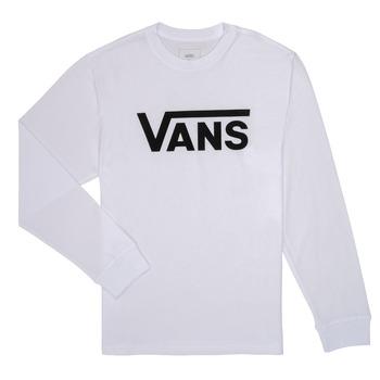 Textil Chlapecké Trička s dlouhými rukávy Vans BY VANS CLASSIC LS Bílá