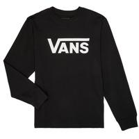 Textil Chlapecké Trička s dlouhými rukávy Vans BY VANS CLASSIC LS Černá