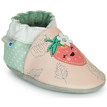 Boty Dívčí Papuče Robeez FRUIT'S PARTY Růžová / Zelená