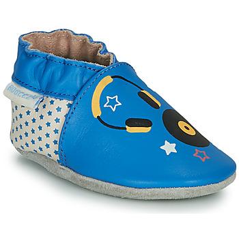 Boty Děti Papuče Robeez MUSIC SOUND Modrá / Béžová