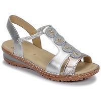 Boty Ženy Sandály Ara HAWAII Bílá / Stříbrná