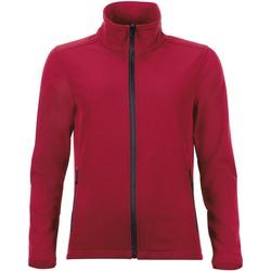 Textil Ženy Teplákové bundy Sols RACE WOMEN SOFTSHELL Rojo