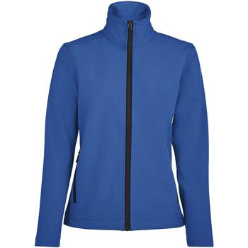 Textil Ženy Teplákové bundy Sols RACE WOMEN SOFTSHELL Azul