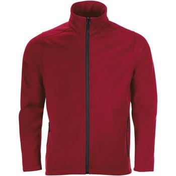 Textil Muži Teplákové bundy Sols RACE MEN SOFTSHELL Rojo