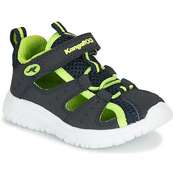 Boty Chlapecké Sandály Kangaroos KI-ROCK LITE EV Modrá / Žlutá