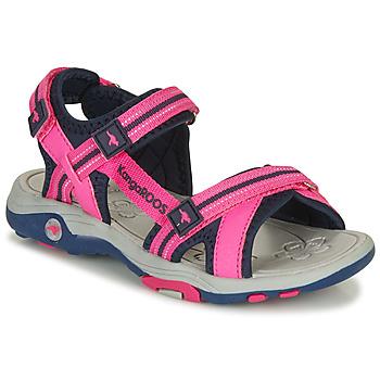 Boty Dívčí Sandály Kangaroos K-LENI Růžová