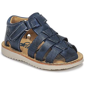 Boty Chlapecké Sandály Citrouille et Compagnie MISTIGRI Tmavě modrá