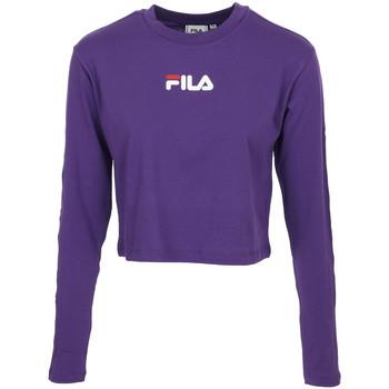 Textil Ženy Trička s krátkým rukávem Fila Reva Cropped T-Shirt Fialová