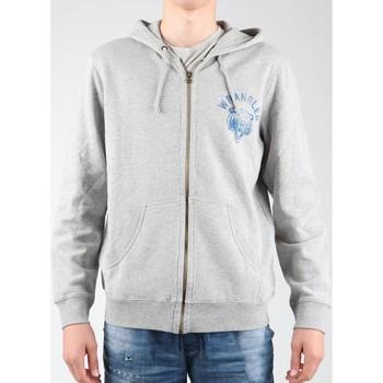 Textil Muži Fleecové bundy Wrangler Hoodie Zip Sweat W6497JE37 grey