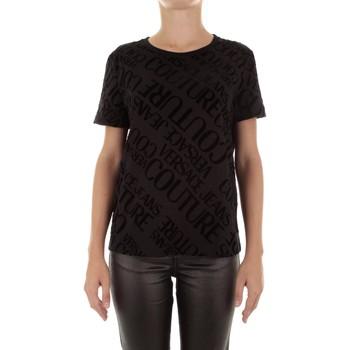 Textil Ženy Trička s krátkým rukávem Versace Jeans Couture B2HUB728 Černá
