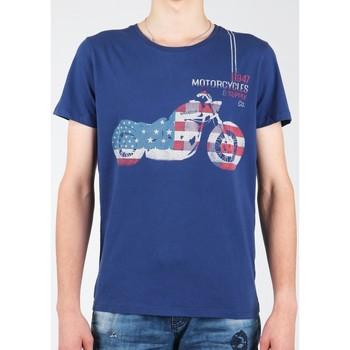 Textil Muži Trička s krátkým rukávem Wrangler S/S Biker Flag Tee W7A53FK 1F navy