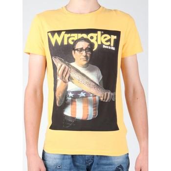 Textil Muži Trička s krátkým rukávem Wrangler T-shirt  S/S Graphic T W7931EFNG yellow