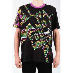 Textil Muži Trička s krátkým rukávem Puma Text Me Tee 554738-01 Multicolor