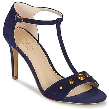 Boty Ženy Sandály André LA DOMPTEUSE Modrá