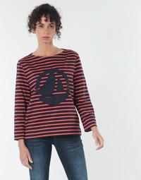 Textil Ženy Halenky / Blůzy Petit Bateau  Červená / Tmavě modrá