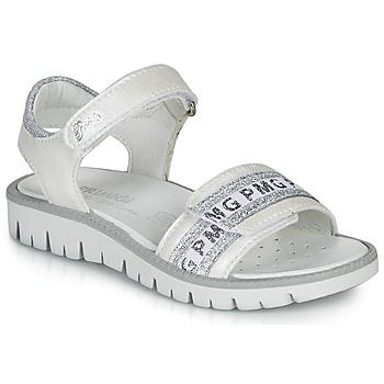 Boty Dívčí Sandály Primigi 5386700 Bílá / Stříbrná