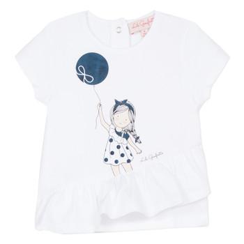 Textil Dívčí Trička s krátkým rukávem Lili Gaufrette NALIOS Bílá