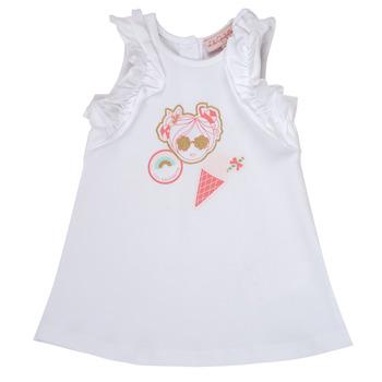 Textil Dívčí Krátké šaty Lili Gaufrette NAVETTE Bílá