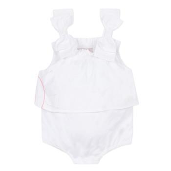 Textil Dívčí Overaly / Kalhoty s laclem Lili Gaufrette NOLENI Bílá