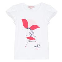 Textil Dívčí Trička s krátkým rukávem Lili Gaufrette KATINE Bílá