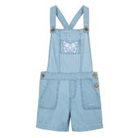 Textil Dívčí Overaly / Kalhoty s laclem Lili Gaufrette NANYSSE Modrá