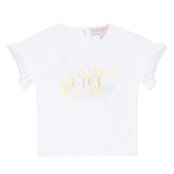 Textil Dívčí Trička s krátkým rukávem Lili Gaufrette KERINI Bílá