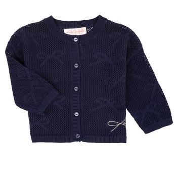 Textil Dívčí Svetry / Svetry se zapínáním Lili Gaufrette CETELIA Tmavě modrá