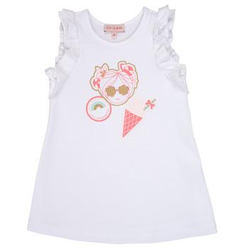Textil Dívčí Krátké šaty Lili Gaufrette SAMI Bílá
