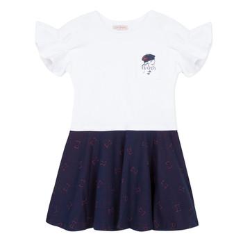 Textil Dívčí Krátké šaty Lili Gaufrette MENDI Bílá