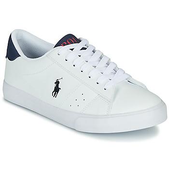 Boty Děti Nízké tenisky Polo Ralph Lauren THERON Bílá