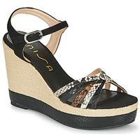 Boty Ženy Sandály Unisa MIRELLA Černá