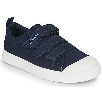 Boty Děti Nízké tenisky Clarks CITY VIBE K Tmavě modrá