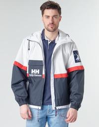 Textil Muži Bundy Helly Hansen RAIN Bílá / Tmavě modrá