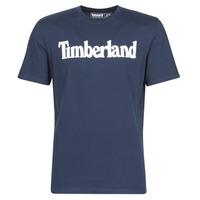 Textil Muži Trička s krátkým rukávem Timberland SS KENNEBEC RIVER BRAND LINEAR TEE Tmavě modrá