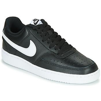 Boty Ženy Nízké tenisky Nike COURT VISION LOW Černá / Bílá