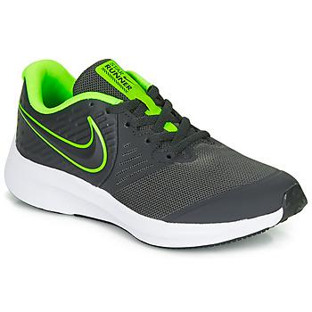 Boty Chlapecké Multifunkční sportovní obuv Nike STAR RUNNER 2 GS Černá / Zelená
