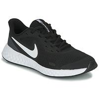 Boty Děti Multifunkční sportovní obuv Nike REVOLUTION 5 GS Černá / Bílá