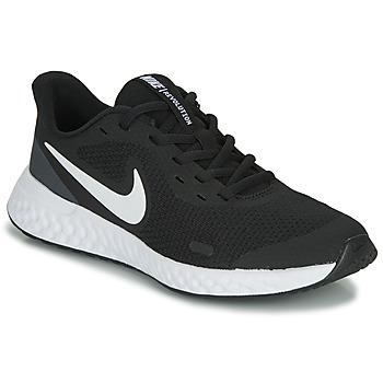 Boty Děti Nízké tenisky Nike REVOLUTION 5 GS Černá / Bílá
