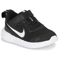 Boty Děti Nízké tenisky Nike REVOLUTION 5 TD Černá / Bílá