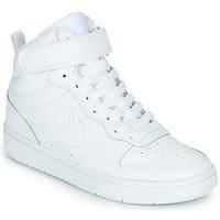 Boty Děti Kotníkové tenisky Nike COURT BOROUGH MID 2 PS Bílá