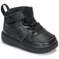 Boty Děti Nízké tenisky Nike COURT BOROUGH MID 2 TD Černá