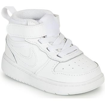Boty Děti Kotníkové tenisky Nike COURT BOROUGH MID 2 TD Bílá