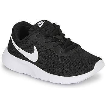 Boty Děti Nízké tenisky Nike TANJUN PS Černá / Bílá