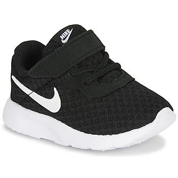 Boty Děti Nízké tenisky Nike TANJUN TD Černá / Bílá