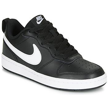 Boty Děti Nízké tenisky Nike COURT BOROUGH LOW 2 GS Černá / Bílá