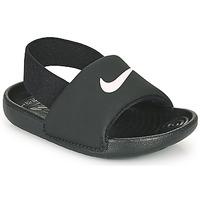 Boty Děti pantofle Nike KAWA TD Černá